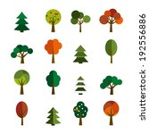set of trees in flat style | Shutterstock .eps vector #192556886