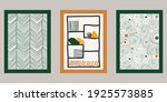 abstract poster collection. set ... | Shutterstock .eps vector #1925573885