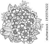 mehndi flower for henna  mehndi ... | Shutterstock .eps vector #1925576222