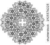 mehndi flower for henna  mehndi ... | Shutterstock .eps vector #1925576225