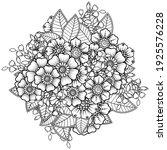 mehndi flower for henna  mehndi ... | Shutterstock .eps vector #1925576228
