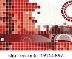 geometric red background