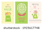 set for spring sale  for... | Shutterstock .eps vector #1925617748