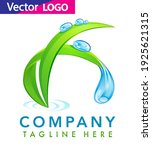 water drop with leaf logo... | Shutterstock .eps vector #1925621315