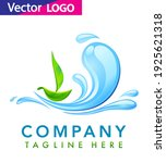 water drop with leaf logo... | Shutterstock .eps vector #1925621318