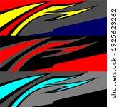 racing car wrap design vector | Shutterstock .eps vector #1925623262