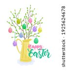 happy easter lettering with... | Shutterstock .eps vector #1925624678