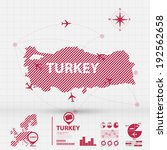 map infographic | Shutterstock .eps vector #192562658
