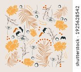 creative floral posters. square ... | Shutterstock .eps vector #1925628542