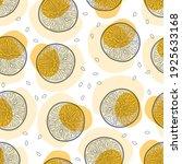 orange fruit seamless pattern... | Shutterstock .eps vector #1925633168