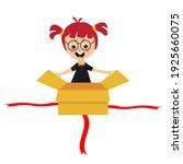 excited little kid opening big... | Shutterstock .eps vector #1925660075