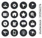 map navigation icons set vector  | Shutterstock .eps vector #192566276