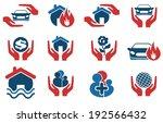insurance vector icons | Shutterstock .eps vector #192566432
