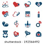 valentines and love icons | Shutterstock .eps vector #192566492