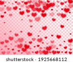 cute red hearts flying... | Shutterstock .eps vector #1925668112