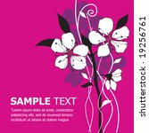 floral vector template.... | Shutterstock .eps vector #19256761