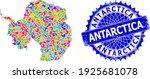 antarctica continent map vector ... | Shutterstock .eps vector #1925681078