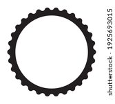 frame for a stamp lettering or... | Shutterstock .eps vector #1925693015