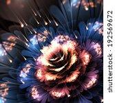 orange blue fractal flower ... | Shutterstock . vector #192569672
