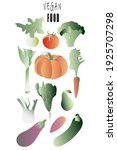 set of healthy and delicious... | Shutterstock .eps vector #1925707298