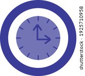 clock ui icon symbol blue icon