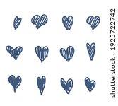 set of doodle hearts  hand... | Shutterstock .eps vector #1925722742