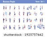 isomeric business people big...   Shutterstock .eps vector #1925757662
