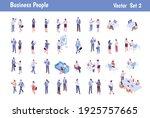 isomeric business people big...   Shutterstock .eps vector #1925757665