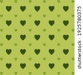 heart seamless pattern in green ... | Shutterstock .eps vector #1925780375