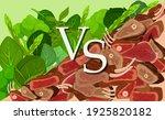 meat versus vegetables clipart. ... | Shutterstock .eps vector #1925820182