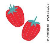 strawberry cartoon flat... | Shutterstock .eps vector #1925831378