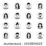 user avatars. people avatar... | Shutterstock .eps vector #1925854025
