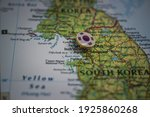 Inchon (Incheon) pinned on a map with the flag of South Korea