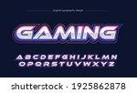 neon chrome gaming logo... | Shutterstock .eps vector #1925862878