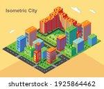 isometric city vector.smart... | Shutterstock .eps vector #1925864462