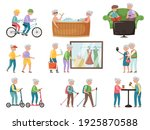 seth with elderly modern people ... | Shutterstock .eps vector #1925870588