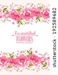 ornate pink flower decoration... | Shutterstock .eps vector #192589682