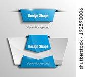 origami paper infographic... | Shutterstock .eps vector #192590006