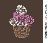 vector collection of sweets in...   Shutterstock .eps vector #192591326