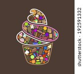 vector collection of sweets in...   Shutterstock .eps vector #192591332