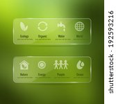 vector ecology icon set with...
