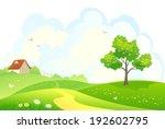 vector illustration of a rural... | Shutterstock .eps vector #192602795