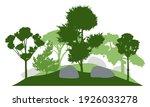 silhouette of  garden with...   Shutterstock .eps vector #1926033278