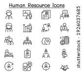 human resource management icon...   Shutterstock .eps vector #1926037685