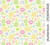 cute seamless floral pattern ...   Shutterstock . vector #1926041828