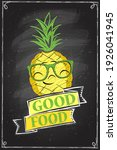 good food chalkboard poster...   Shutterstock . vector #1926041945