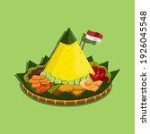 nasi tumpeng is an indonesian... | Shutterstock .eps vector #1926045548