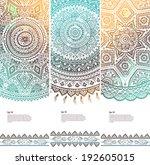 beautiful vintage floral set of ... | Shutterstock .eps vector #192605015