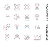 target and goal set icon ... | Shutterstock .eps vector #1926070922