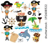 vector pirate boy illustration | Shutterstock .eps vector #192608522